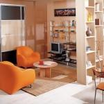 7-living modern mic impartit in mai multe zone de activitate