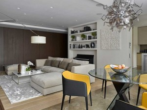 7-loc de luat masa amenajat in livingul apartamentului