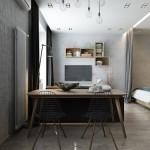 7-loc de luat masa amenajat in spatele canapelei din living