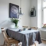 7-loc de luat masa bucatarie alba amenajata in stil scandinav