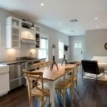 7-loc de luat masa bucatarie open space casa din lemn 90 mp
