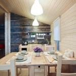 7-loc de luat masa interior casa mica din lemn 26 mp