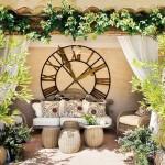 7-loc de relaxare langa piscina din curtea casei de piatra din Provence