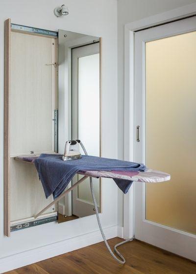 7-masa de calcat extensibila montata in spatele unei oglinzi