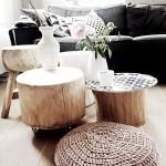 7-mici piese de mobilier din lemn decor living modern