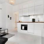 7-mobila alba bucatarie open space apartament 2 camere foarte mic