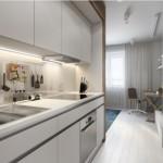 7-mobila alba bucatarie proiectata pe doua laturi asezate paralel