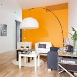 7-mobila alba pereti portocalii living modern