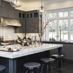 7-mobila din lemn masiv culoare gri pentru bucatarie