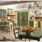 7-mobila inzidita bucatarie stil clasic galben cu verde