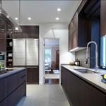 7-mobila wenge cu blat gri decor bucatarie moderna minimalista