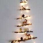 7-model brad rustic de Craciun pentru perete confectionat din crengute uscate
