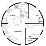 7-model compartimentare interioara casa dom geodezic mica