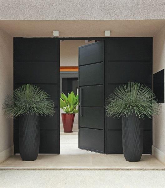 model usa exterior metal design modern minimalist culoare neagra