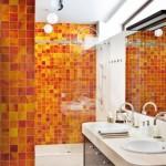 7-mozaic in nuante de portocaliu amenajare baie moderna