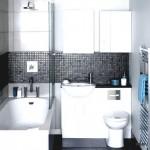 7-mozaic negru accent cromatic baie moderna mica finisata cu faianta alba