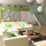 7-nise decorative decor living modern amenajat in alb si vernil