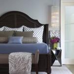 7-pat din lemn masiv stil clasic cu tablie mare la capul patului