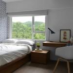 7-pat matrimonial lipit de perete solutie amenajare dormitor mic