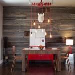 7-perete placat cu dusumea din lemn loc de luat masa