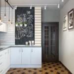 7-perete vopsit cu vopsea decorativa cu efect de tabla de scris