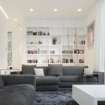7-pereti albi in amenajarea unei locuinte moderne cu tavane inalte