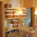 7-polite din gips carton placate cu faianta decor perete baie