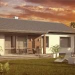 7-proiect casa cu 82 mp suprafata locuibila fara etaj si cu garaj