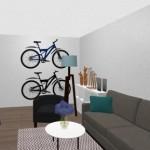 7-propunere amenajare living Aida cu 2 biciclete pe perete