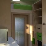 7-scara glisanta din lemn ascunsa in spatele unui dulap idei amenajare casa mica 15 mp