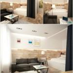 7-separarea dormitorului de living cu ajutorul draperiilor