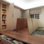 7-sertare depozitare ascunse in platforma inaltata living