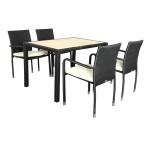 7-set masa si scaune imitatie rattan model Oliver magazin eMAG