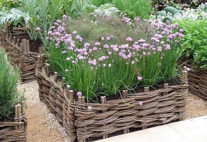 7-straturi inaltate legume flori gard rustic impletit