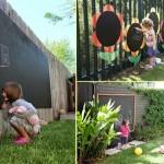 7-table de scris de exterior pentru joaca cu creta in curtea casei