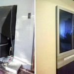 7-televizor cu tub incastrat in peretele dintre doua camere