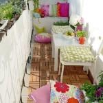 7-textile colorate in amenajarea unui mic balcon in stil scandinav