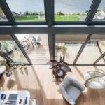 7-vedere de sus living open space casa Amfibie ideala pentru zonele predispuse inundatiilor