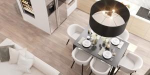 7-vedere de sus loc de luat masa apartament modern proiect D3 Design
