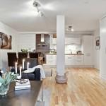 7-vedere din living in bucatarie open space apartament mic doua camere