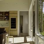 7-vedere spre unul dintre dormitoare living si bucatarie open space casa moderna 88 mp