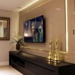 8-TV living modern montat pe panou cu banda led dedesubt