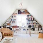 8-amenajare biblioteca si birou in mansarda