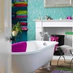 8-baie eleganta perete decorat cu tapet turcoaz