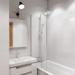 8-baie mica amenajata in alb garsoniera moderna de 19 mp