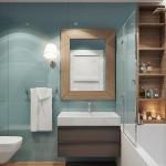 8-baie moderna finisata in bleu cu accente turcoaz