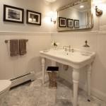 8-baie stil clasic decor lambriu alb plastic