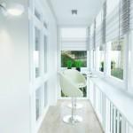 8-balcon lung si ingust amenajat si decorat in alb