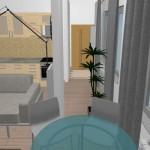 8-balconul integrat in camera de zi si bucataria garsonierei