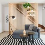 8-balustrada scara interioara din stinghii verticale de lemn